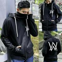 Jaket sweater hoodie alan walker ninja dewasa hitam navi L XL