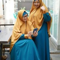 Gamis Muslim Syari Jumbo Gamis Set Besar size XXL Khimar Syari Lebar