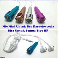 Microphone mini Headset Smule Mic Earphone 2 in 1