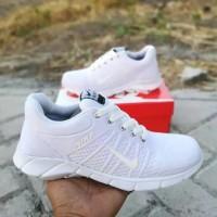 Nike airmax running white pria wanita full putih sepatu casual kets ol
