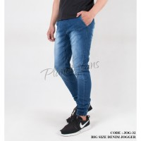 Celana jogger pants ukuran jumbo bahan jeans big size joger - JOG32