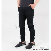 Celana jogger pants ukuran jumbo bahan jeans big size joger - JOG35