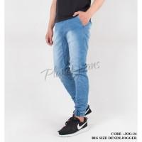 Celana jogger pants ukuran jumbo bahan jeans big size joger - JOG34