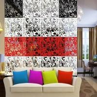HOT SALE dekorasi pembatas ruangan vintage pvc 1set isi 4bh - sekat