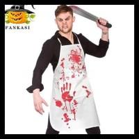 GRATIS ONGKIR Apron Darah Kostum Halloween Murah Baju Cosplay Pesta