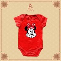 Minnie Cute Please Chinese New Year Baby Jumper  Baju Imlek Mini Tikus
