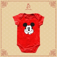 Mickey Cute Please Chinese New Year Baby Jumper  Baju Imlek Miki Tikus