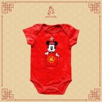 Minnie Hong Bao Chinese New Year Baby Jumper   Baju Imlek Mini Tikus