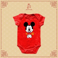 Mickey Gong Xi Chinese New Year Baby Jumper   Baju Imlek Miki Tikus