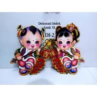 Dekorasi Imlek DI-2 XL Couple Anak Hiasan Pintu Tempel