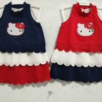 Baju dress Hello Kitty anak 1 th