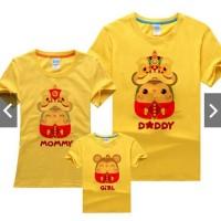 Kaos Couple Imlek Keluarga Request Nama - Kaos Year of Rat 2020