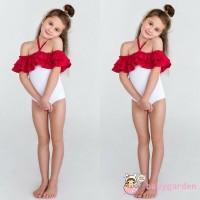ADN-Toddler Baby Girl Summer Swimwear Ruffle Lacing Swimsuit Bikini