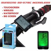 Speedometer Sepeda Digital LCD Dengan Kabel Aksesoris Sepeda SUNDING