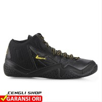 Sepatu Basket LEAGUE Levitate Original All Full Black last stok