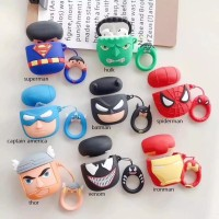 MARVEL DC COMICS 3D Figure Silicone Case for AIRPODS with Finger Ring