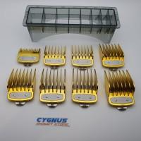 Sepatu clipper WAHL / Attachment Comb WAHL Metal Clip isi 8 pcs GOLD
