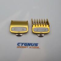 Sepatu Clipper WAHL / Attachment Comb WAHL ukuran 0.5 dan 1.5 set GOLD