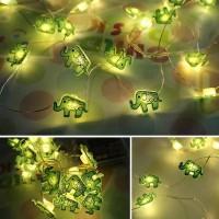 Lampu hias LED dekorasi bentuk gajah string tumblr fairy 20 led kado