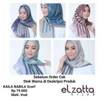 Hijab Jilbab Kerudung Segi Empat KAILA NABILA Scarf ELZATTA Original