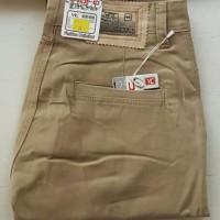 celana chino pria tebal melar model reguler fitt size 27-32