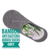 Kaos Kaki Pendek Serat Bambu Kesehatan Bamboo Hidden Socks_ABU GREY
