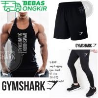 3in1-BUNDLING GYMSHARK Stelan Baju olahraga kaos running gym training