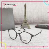 ( GRATIS LENSA ) Frame Kacamata Minus Pria Wanita Korea Vintage NAN607