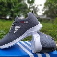 adidas neo 99 baru sneaker abu jogging running kets terbaru - Biru