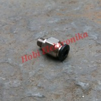 PC4-M6 Pneumatic Connectors Straight Air Fittings For Teflon Tube 4mm