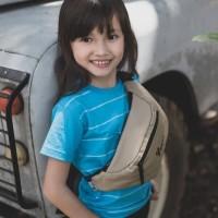 Tas Slempang / Waist Bag Anak Premium - Comfy Unisex Cream