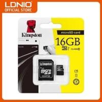 MICRO SD CARD KINGSTON 16GB PLUS ADAPTER CLASS 1O RESMI
