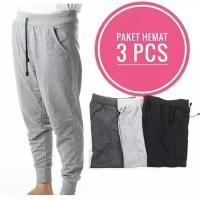 Dapat 3 Pcs - Celana Panjang Jogger Pants - Size M