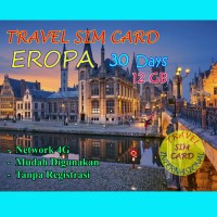 Sim Card Travel Eropa 12GB for 30 Days