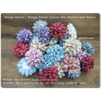 GBNG-10 : Bunga Korea / Bunga Suede Seruni Mix Warna (per lusin)