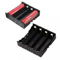 Paralel 4x 18650 Battery Holder Lempengan Kotak Baterai Batere 4 cell