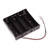 4x 18650 Battery Holder Baterai Case Batere Box Kotak Batre Dgan Kabel