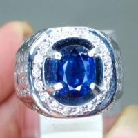 Cincin Batu Blue Kyanite Ceylon Safir Asli (Kode 406)