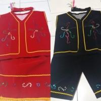 baju dayak anak Tk / pakaian adat kalimantan Lk /Pr 4 -6 tahun