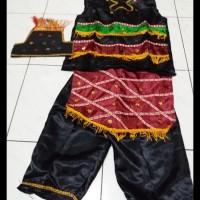 Pakaian baju adat anak irian/papua saten Lk/Pr size L-XL TERLENGKAP