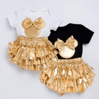 Limited Bayi bayi gadis kartun baju monyet Tops + celana celana +