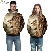 Men Women Animal 3D Graphic Print Sweatshirt Hoodie Long Sleeve ALID