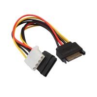 Kabel Power SATA 15 Pin Male Ke 4Pin IDE Molex Female + SATA Female