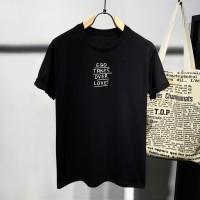 T-shirt Ego / Baju Kaos Distro Pria Wanita Hitam Cotton 30s
