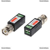 1Pcs Transceiver Video Balun Kabel Coax CAT5 dengan Konektor UTP
