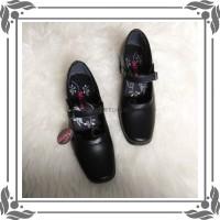 sepatu kerja pria LDR 307 sekolah hitam Sepatu fantofel