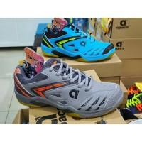 Sepatu Badminton Apacs Pro 773 Blue dan Grey Orange Original