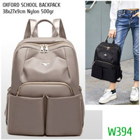 TAS RANSEL WANITA IMPORT KOREA W394 1kg2 OXFORD SCHOOL BACKPACK