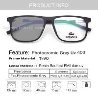 Lacoste - Frame kacamata minus lacoste Free lensa photocromic grey