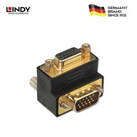 """LINDY #70318 VGA Male to VGA Female 90° Adapter """"Up"""""""